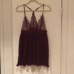 Victoria Secret burgundy lace nightgown top